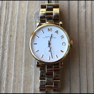 Marc by Marc Jacobs Gold Signature Watch!